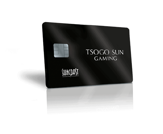 The new Suncoast casino black rewards card