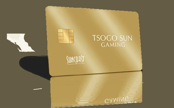 The new Suncoast casino gold rewards card on transparent background
