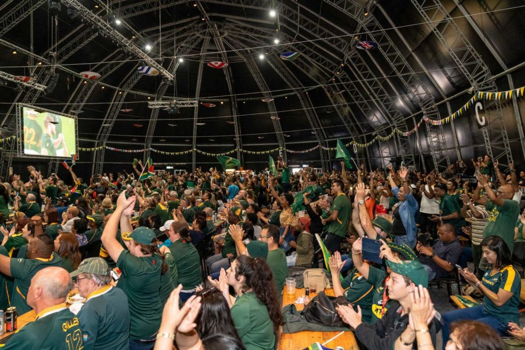 Audience attending a BokTown event at The Globe