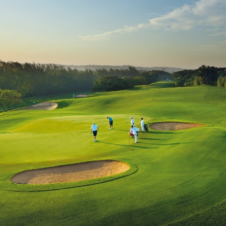 Five golfers at the Durban Country Club