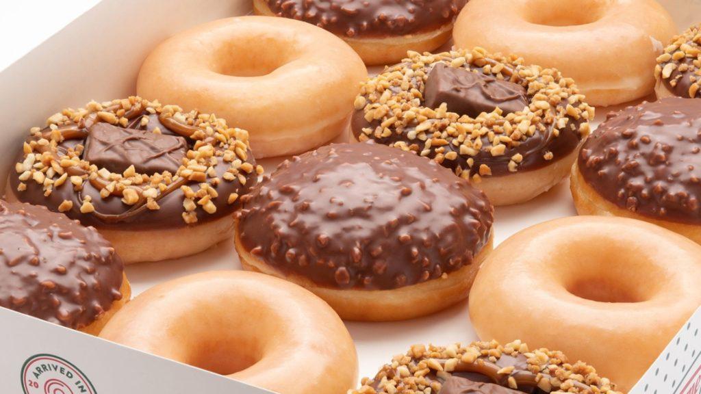 Krisp Kreme doughnuts on display