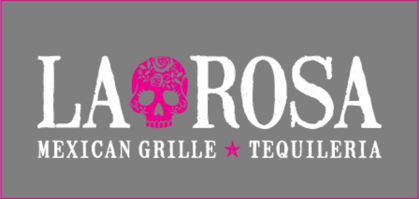 La Rosa white and pink logo
