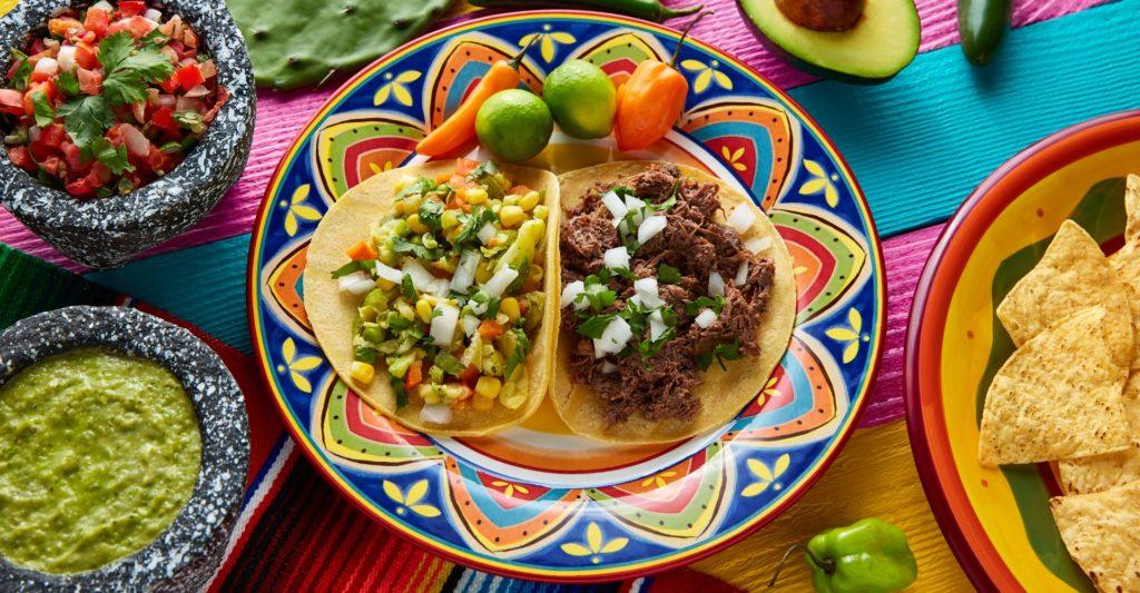 La Rosa nachos with filling on display landscape image