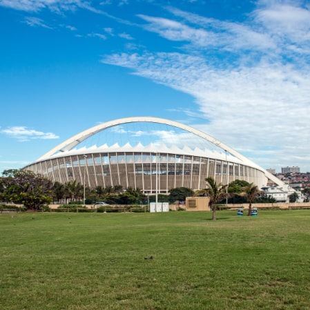 Durban's Moses Mabhida stadium exterior shot