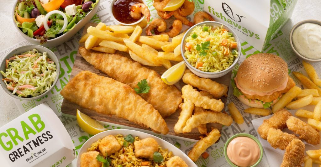 Fishaways meals displayed