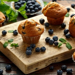 Mugg and Bean muffins on display