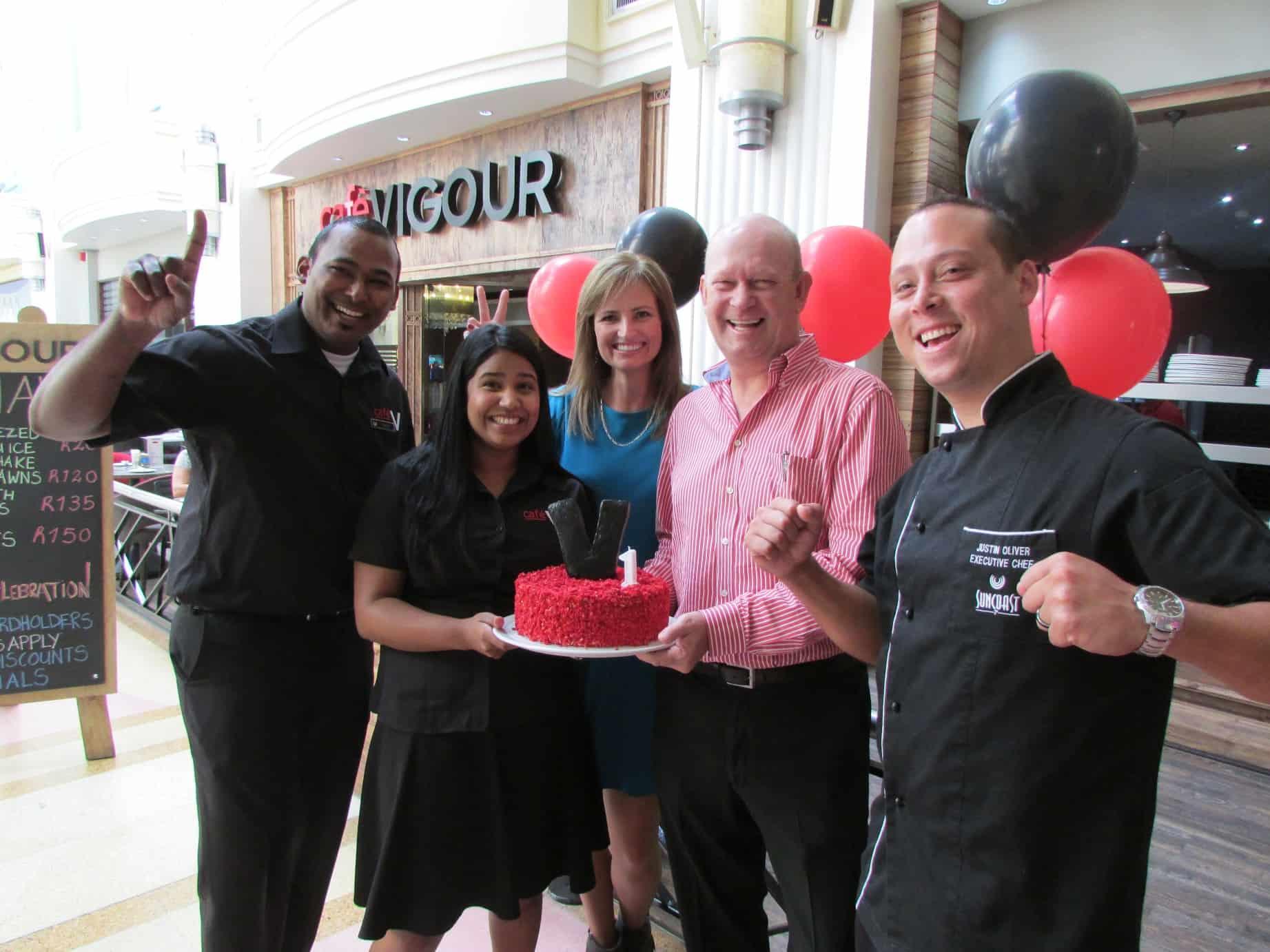 Cafe Vigour celebrates the first birthday at Suncoast (team)