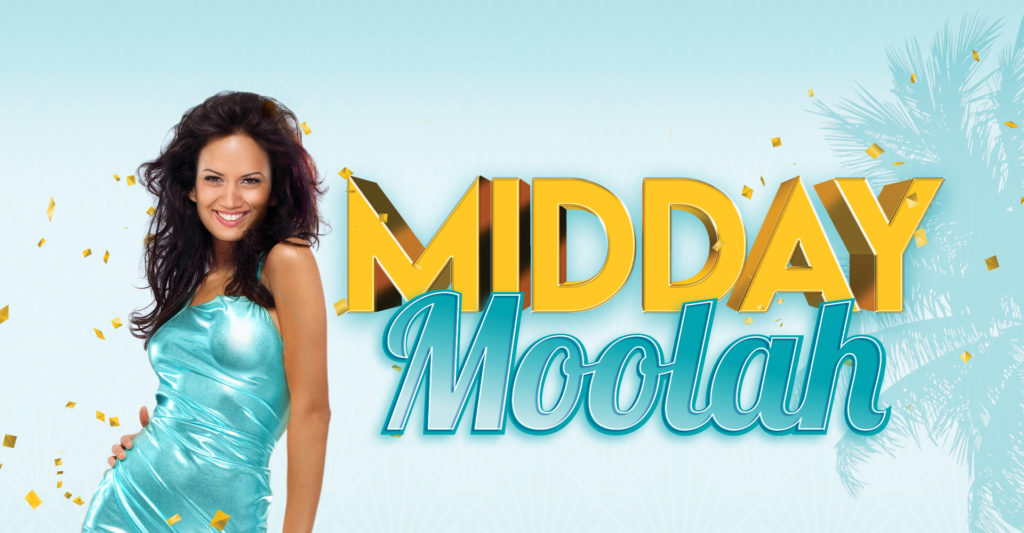 Midday Moolah landscape banner with blue background