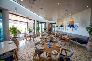 Mythos restaurant interior seating at Suncoast Casino