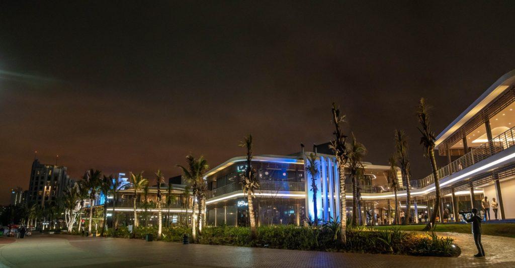 Suncoast Casino's restaurant's lit up