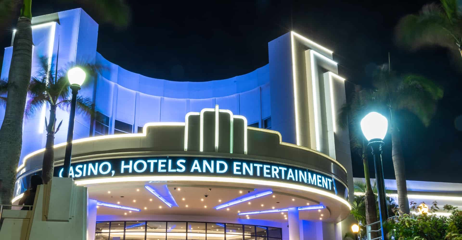Suncoast Casino's lit up slogan - Casino, Hotels and Entertainment