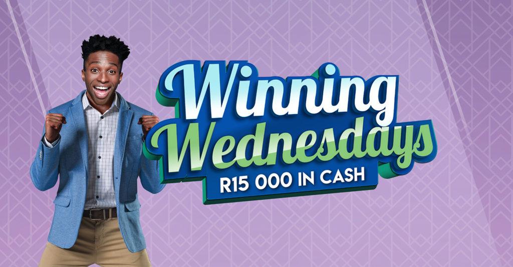 Winning Wednesdays gaming promotion landscape banner