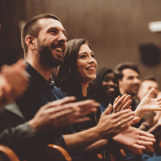 Audience cheering during an event