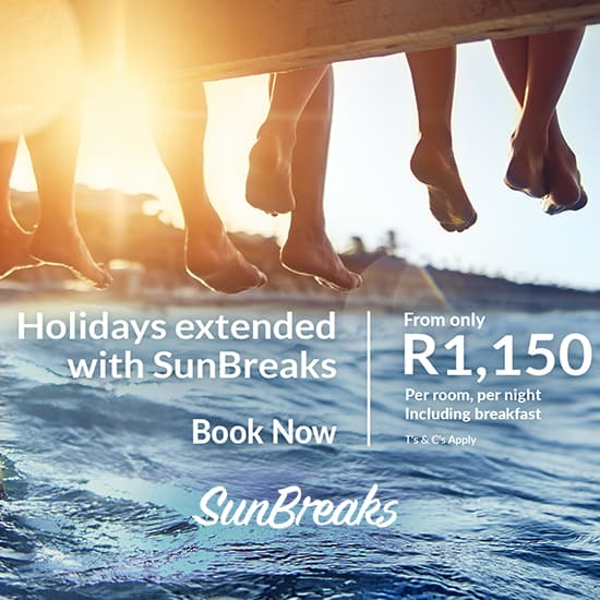 April School Holidays offers. From only R1,150 per room per night, incl breakfast.