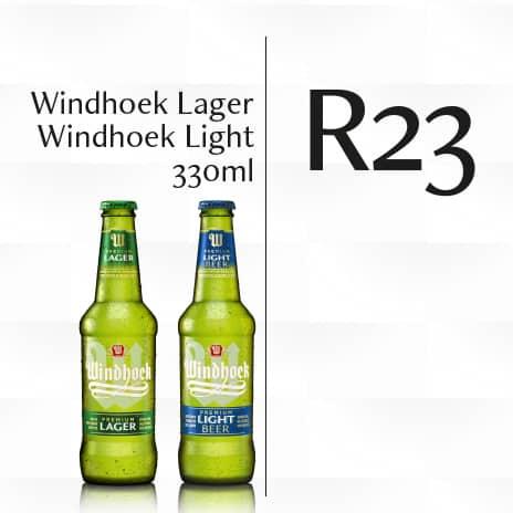 Windhoek Lager | Windhoek Light 330 ml